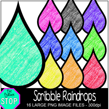 Colorful Crayon Scribble Raindrops {The Teacher Stop}