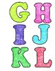 Colorful Crayon Style Letters