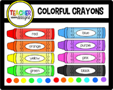 Colorful Crayons Clip Art