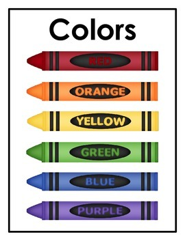 Color the Crayons - A Color Identification Activity