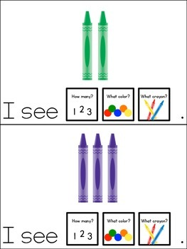 Colorful Crayons Count and Color Adapted Book