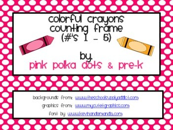 Colorful Crayons Counting Frame (#'s 1 - 5)