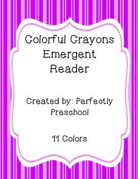 Colorful Crayons Emergent Reader {Back to School}