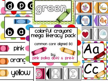 Colorful Crayons MEGA Literacy Pack ~ ABC, Beginning Sounds & More