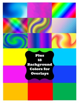 Backgrounds  -  Colorful, Creative, and Fun - Mix and Match
