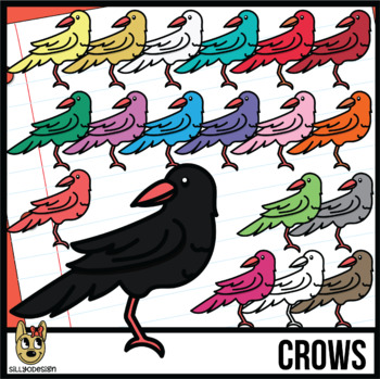 Colorful Crow Clip Art