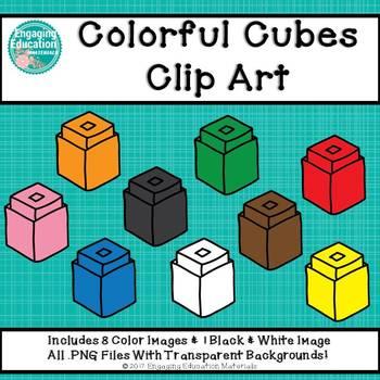 Colorful Cubes Clip Art