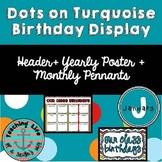 Dots on Turquoise Birthday Display
