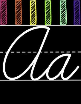 Colorful Cursive Alphabet Line