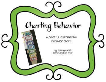 Colorful, Customizable Behavior Chart