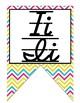 Colorful D'Nealian print and cursive Alphabet banner