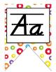 Colorful D'nealian manuscript Alphabet Strip Banner