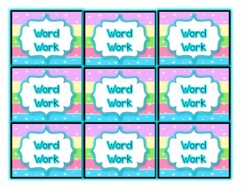 Colorful DAILY FIVE Packet! {Headers, Rotation Cards, Individual Station Cards}