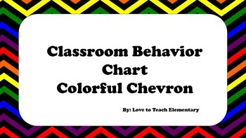 Colorful Dark Chevron Behavoir Clip Chart
