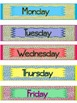 Colorful Days Of The Week With Scribble Background