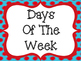 Days of the Week Posters: Colorful