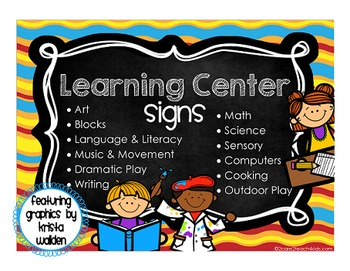 Colorful Designs Learning Center Signs