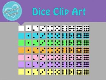 Colorful Dice Clip Art