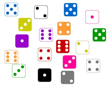 Colorful Dice Clipart Graphics (Personal and Commercial Use)