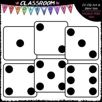 Colorful Dice Clip Art (102 Colored Pieces) - Math Clip Art