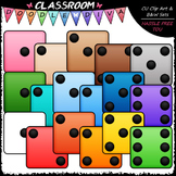 Colorful Dice Clip Art (102 Colored Pieces) - Math Clip Art