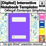Colorful Digital Interactive Notebook Templates - Landscape