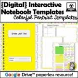 Colorful Digital Interactive Notebook Templates - Portrait