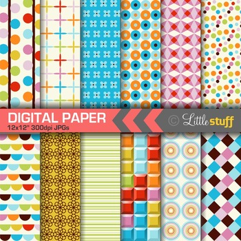 FREE: Colorful Digital Papers