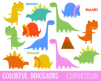 Colorful Dinosaur Clipart