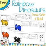 *Updated* Rainbow Dinosaurs Trace Color and Build Writing