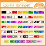 Colorful Dominoes Clipart Graphics for Personal and Commer