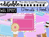 Classroom Slides with Timers Colorful Donuts Food To Do Checklist