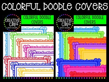 Colorful Doodle Covers {Creative Clips Digital Clipart}