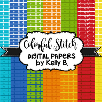 Colorful Doodle Digital Papers
