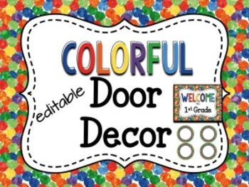 Colorful Door Decor