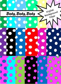 Colorful Dot Background Paper