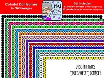 Colorful Dot Frames