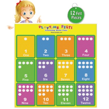 Colorful Dot Pattern Cards 1-12 Activity Set in Felt