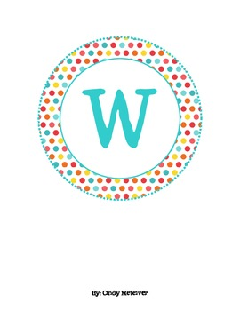 Colorful Dot Word Wall Letters