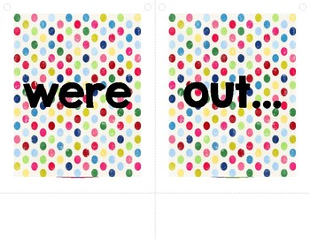 Colorful Dots Banner - While You Were Out