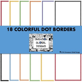 Colorful Dots Border Bundle