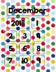 Colorful Dots Calendar Parts