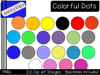 Colorful Dots Clip Art
