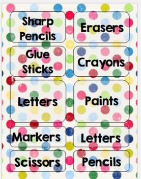 Colorful Dots - Label Template