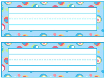 Colorful Dots Printable Incentive Charts, Desk Plates, Name tags
