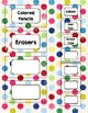 Colorful Dots Toolbox Labels