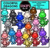 Colorful Dragons Clip Art Bundle {Educlips Clipart}