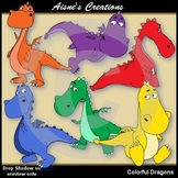 Colorful Dragons Clipart Pack