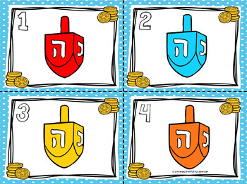 Colorful Dreidels:  LOW PREP Hanukkah Themed Color Word Write the Room
