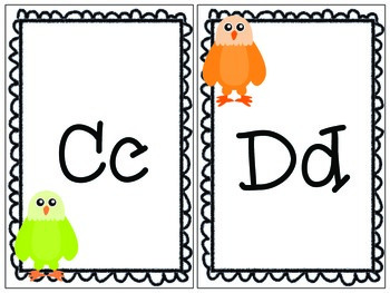 Colorful Eagle Themed Print Alphabet by Teaching Ambrosia